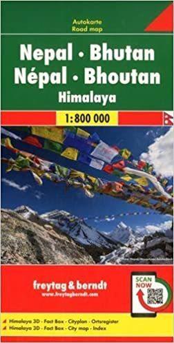 NEPAL BHUTAN HIMALAJE mapa 1:800 000 FREYTAG & BERNDT 2020