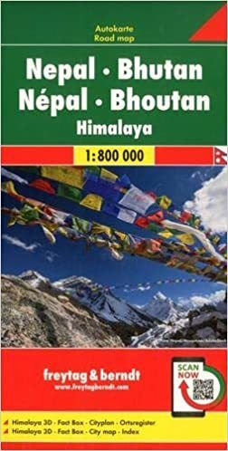 NEPAL BHUTAN HIMALAJE mapa 1:800 000 FREYTAG & BERNDT 2020 (1)