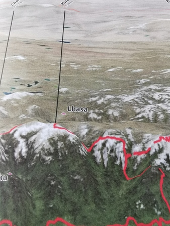 NEPAL BHUTAN HIMALAJE mapa 1:800 000 FREYTAG & BERNDT 2020 (3)