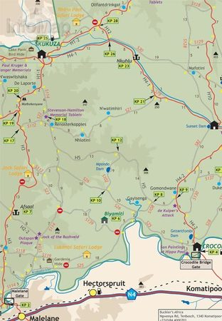 PARK NARODOWY KRUGERA mapa 1:220 000 INFOMAP (2)