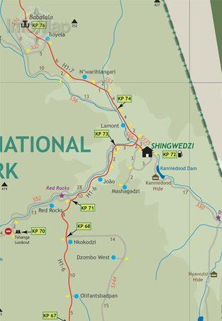 PARK NARODOWY KRUGERA mapa 1:220 000 INFOMAP (4)
