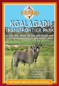 Park Narodowy Kgalagadi Transfrontier mapa 1:270 000 INFOMAP