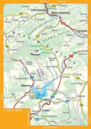 WOKÓŁ BABIEJ GÓRY laminowana mapa turystyczna 1:60 000 COMPASS 2020 (2)