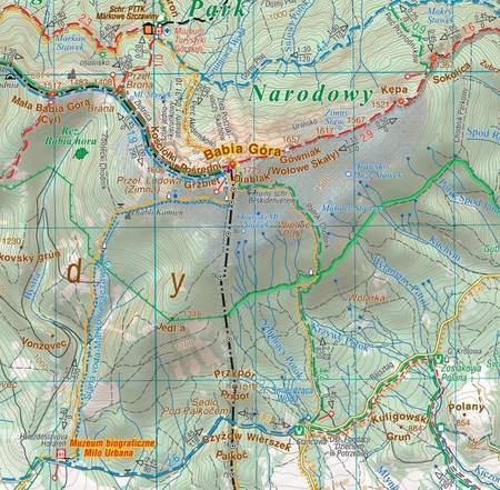 WOKÓŁ BABIEJ GÓRY laminowana mapa turystyczna 1:60 000 COMPASS 2020 (3)