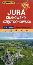 JURA KRAKOWSKO-CZĘSTOCHOWSKA mapa turystyczna 1:50 000 COMPASS 2020