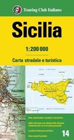SYCYLIA mapa samochodowa 1:200 000 TOURING EDITORE 2020
