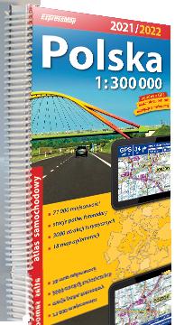 POLSKA atlas samochodowy 1:300 000 2021/2022 EXPRESSMAP