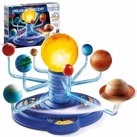 Układ słoneczny interaktywny model świecący z aplikacją Clementoni (1)