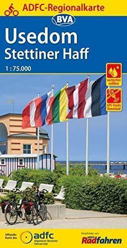 Uznam / Stettiner Haff mapa rowerowa 1:75 000 ADFC