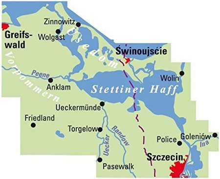 Uznam / Stettiner Haff mapa rowerowa 1:75 000 ADFC (2)
