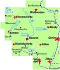 GÓRNE ŁUŻYCE, POJEZIERZE ŁUŻYCKIE mapa rowerowa 1:75 000 ADFC (2)
