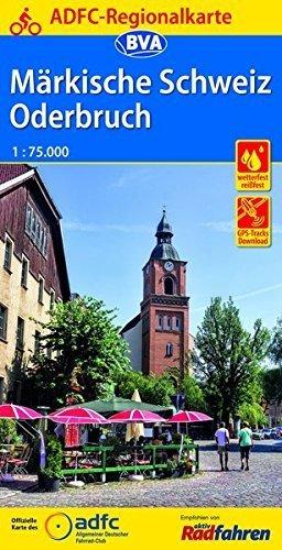 MARKISCHE SCHWEIZ / ODERBRUCH mapa rowerowa 1:75 000 ADFC