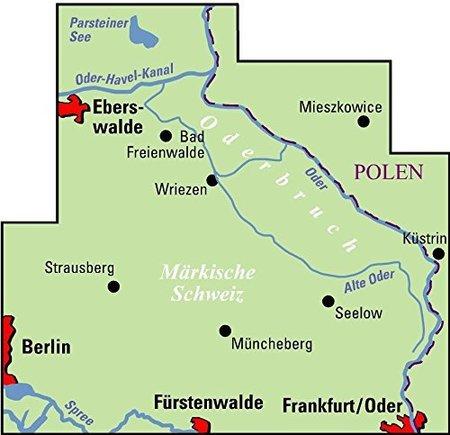 MARKISCHE SCHWEIZ / ODERBRUCH mapa rowerowa 1:75 000 ADFC (2)