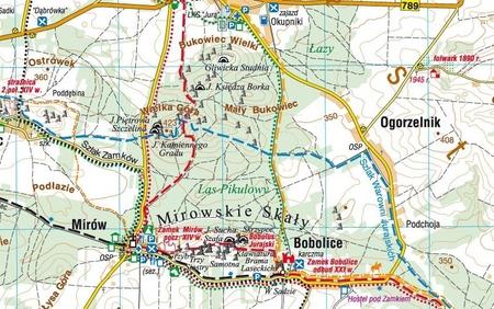 JURA KRAKOWSKO-CZĘSTOCHOWSKA mapa laminowana 1:50 000 COMPASS 2020 (2)