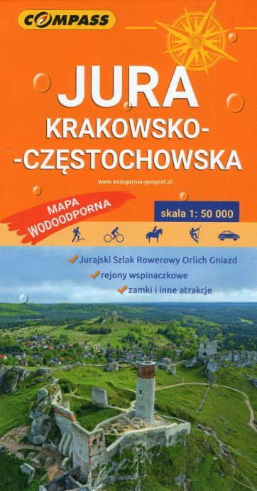 JURA KRAKOWSKO-CZĘSTOCHOWSKA mapa laminowana 1:50 000 COMPASS 2020 (1)