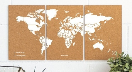 MAPA KORKOWA ŚWIAT - WOODY PUZZLE WORLD MAP WHITE M 60 x 30 cm (3)