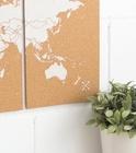 MAPA KORKOWA ŚWIAT - WOODY PUZZLE WORLD MAP WHITE M 60 x 30 cm (2)