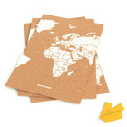 MAPA KORKOWA ŚWIAT - WOODY PUZZLE WORLD MAP WHITE M 60 x 30 cm (4)