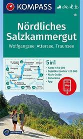 PÓŁNOCNY SALZKAMMERGUT WK18 mapa turystyczna KOMPASS