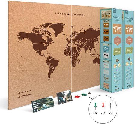MAPA KORKOWA ŚWIAT Miss Wood Woody Map XXL 120 x 90 cm (2)