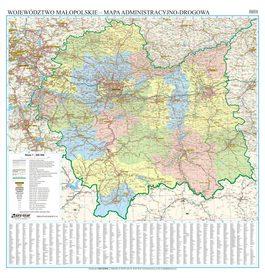 WOJEWÓDZTWO MAŁOPOLSKIE mapa ścienna EKOGRAF 2020