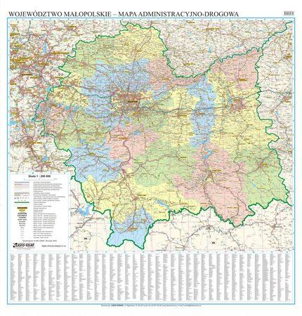 WOJEWÓDZTWO MAŁOPOLSKIE mapa ścienna EKOGRAF 2020 (1)