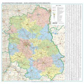 WOJEWÓDZTWO PODLASKIE mapa ścienna EKOGRAF 2020