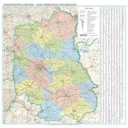 WOJEWÓDZTWO PODLASKIE mapa ścienna EKOGRAF 2020 (1)
