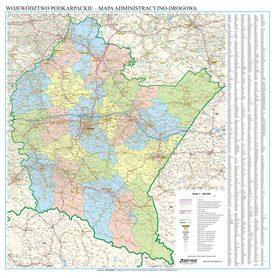WOJEWÓDZTWO PODKARPACKIE mapa ścienna EKOGRAF 2020