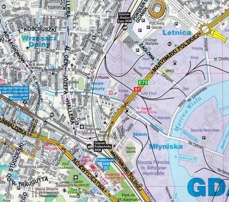 TRÓJMIASTO GDAŃSK GDYNIA SOPOT foliowany plan miasta EXPRESSMAP (2)