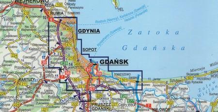 TRÓJMIASTO GDAŃSK GDYNIA SOPOT foliowany plan miasta EXPRESSMAP (3)