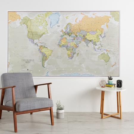 ŚWIAT 1:20M HUGE mapa ścienna MAPS INTERNATIONAL (3)