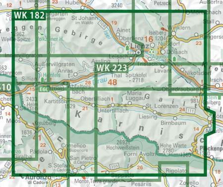 LIENZER DOLOMITEN LESACHTAL mapa turystyczna 1:50 000 FREYTAG & BERNDT (2)