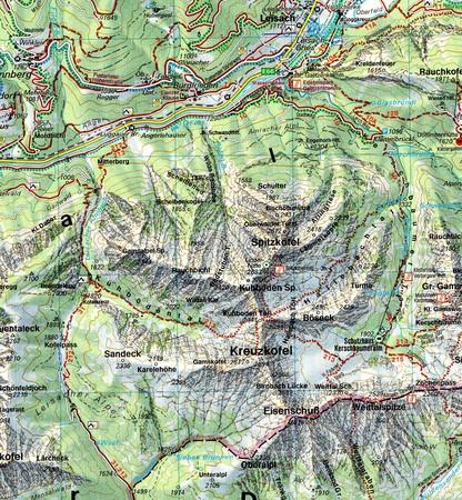LIENZER DOLOMITEN LESACHTAL mapa turystyczna 1:50 000 FREYTAG & BERNDT (3)