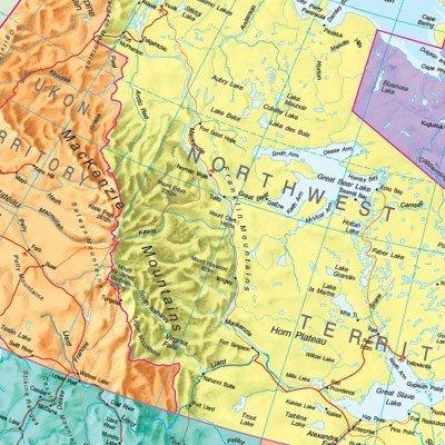 KANADA papierowa mapa ścienna MAPS INTERNATIONAL (3)