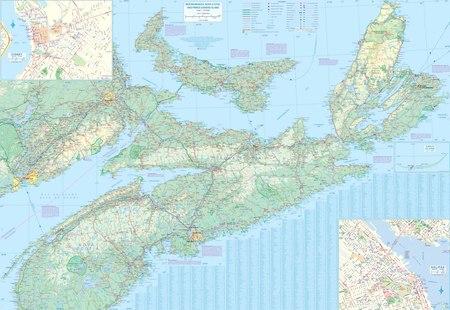 KANADA PROWINCJA MARITIME 1:530 000 mapa ITMB 2019 (2)