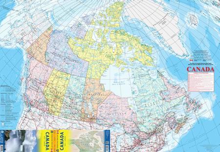 KANADA mapa administracyjno-drogowa 1:6 000 000 ITMB (3)