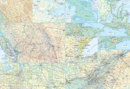 KANADA mapa administracyjno-drogowa 1:6 000 000 ITMB (4)