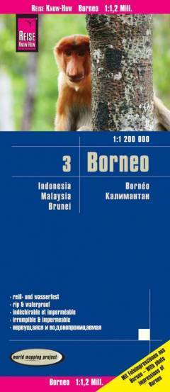 BORNEO mapa 1:1 200 000 REISE KNOW HOW 2020