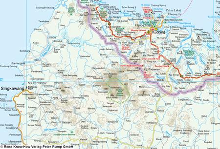 BORNEO mapa 1:1 200 000 REISE KNOW HOW 2020 (2)