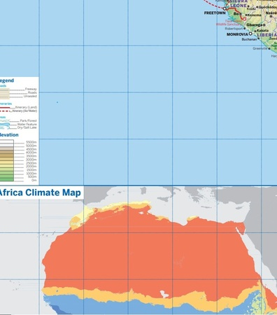 AFRYKA mapa do planowania LONELY PLANET 2019 (2)