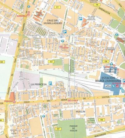MALAGA plan miasta 1:10 000 MICHELIN (2)