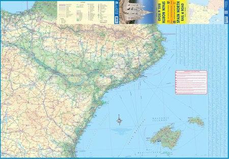 HISZPANIA PÓŁNOCNA mapa drogowa - kolejowa ITMB 2021 (3)