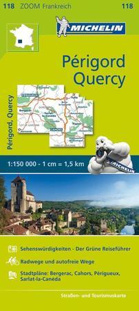 PERIGORD QUERCY 1:150 000 mapa 118 MICHELIN (1)
