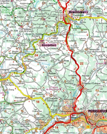 PERIGORD QUERCY 1:150 000 mapa 118 MICHELIN (2)