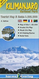 KILIMANDŻARO mapa turystyczna 1:100 000 HARMS VERLAG 2020