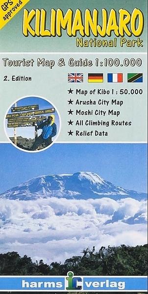 KILIMANDŻARO mapa turystyczna 1:100 000 HARMS VERLAG 2020 (1)