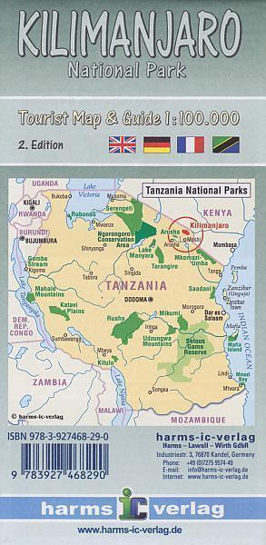 KILIMANDŻARO mapa turystyczna 1:100 000 HARMS VERLAG 2020 (2)