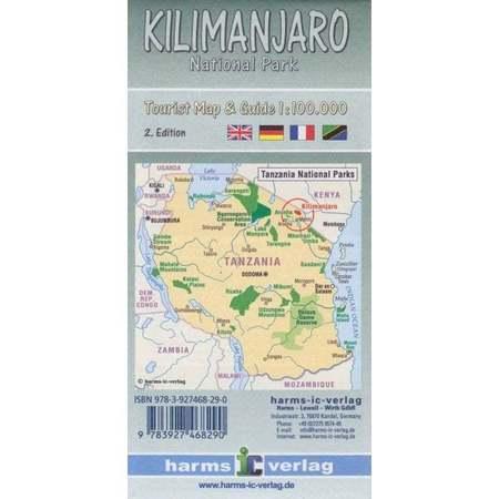 KILIMANDŻARO mapa turystyczna 1:100 000 HARMS VERLAG 2020 (5)
