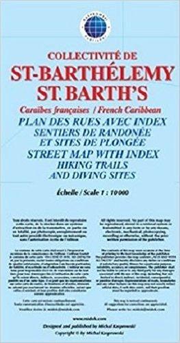 SAINT-BARTHELEMY mapa turystyczna KASPROWSKI